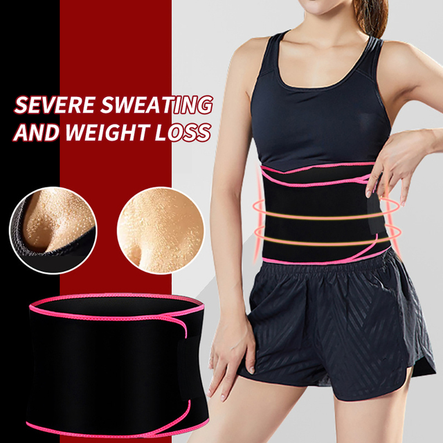 Fitness Sports Waist Belt Adjustable Colorful Sweat Waist Ventilating Slimming Belt Running Protective Accessories Weight loss