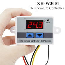 10pcs/lot XH-W3001 Temperature Controller Thermostat Thermoregulator Aquarium Incubator Water Heater Temp Regulator 220V 40%off