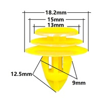 30Pcs Interior Panel Clamp 9mm for Volvo BYD Door Card trim retainer clips yellow fastener