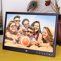 Touch key 15.4 Inch LED Backlight HD 1280*800 Full Function Digital Photo Frame Electronic Album digitale Picture Music Video