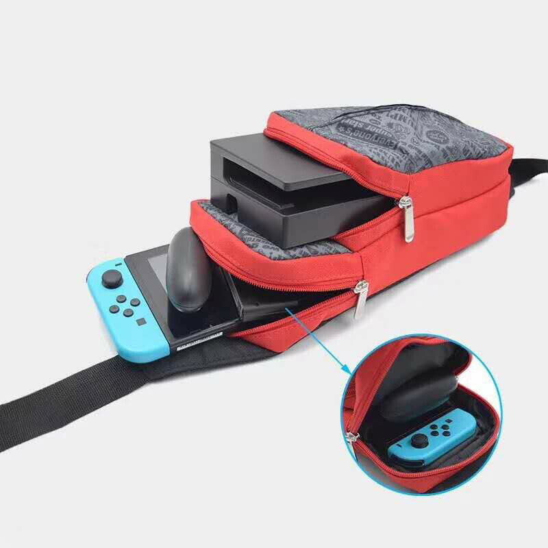 Crossbody Bag for Nintendo Switch Travel Carry Case Shoulder Storage Bag for Console & Dock Game Accessories Protective Bags 5