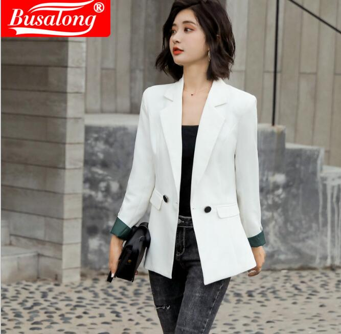 Suit Jacket Overcoat Workwear Women Blazer Spring Business Formal White Autumn Plus-Size