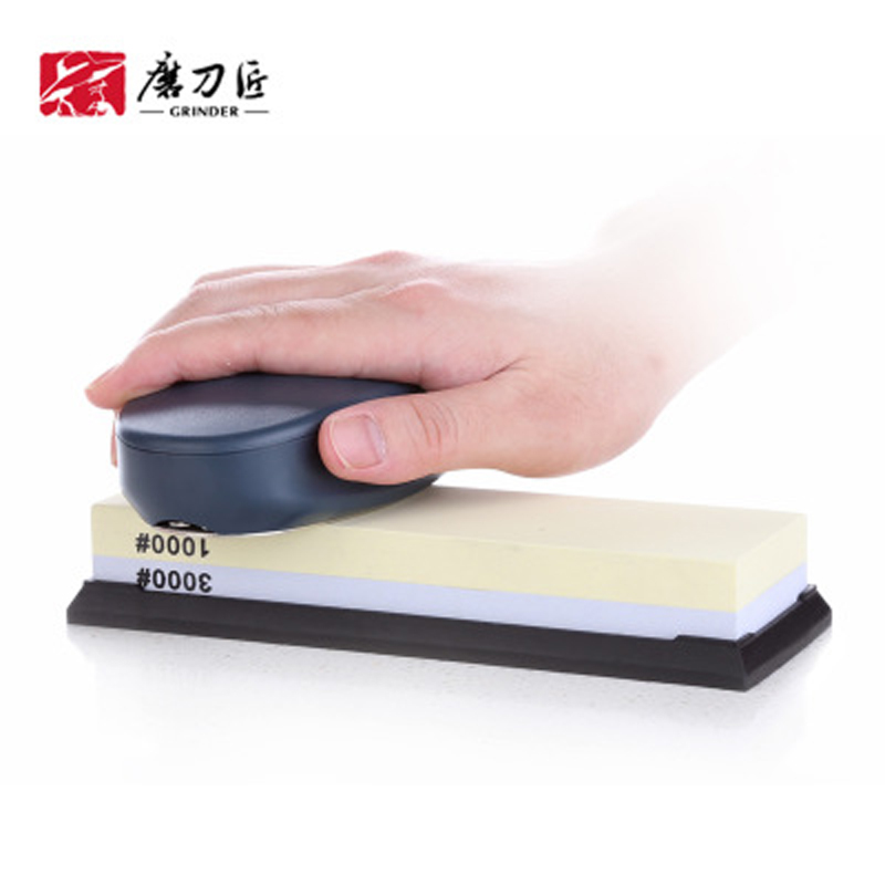 <font><b>220</b></font> <font><b>360</b></font> Grit Double Sides Whetstone Oilstone Stones Professional Knife Grinder Stone with Correction Level Gradienter h2 image