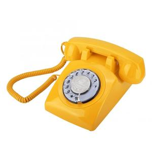 Image 5 - Vintage Phone Retro Landline Telephone Rotary Dial Telephone Desk Phone Corded Telephone Landline for Home Office High Quality