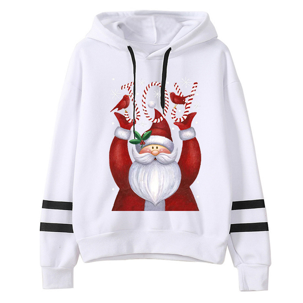 2020 Christmas JOY Womail Sweatshirts Women's Harajuku Hooded autumn winter Loose Printed sudadera Mujer Womens Sweatshirt S-XL