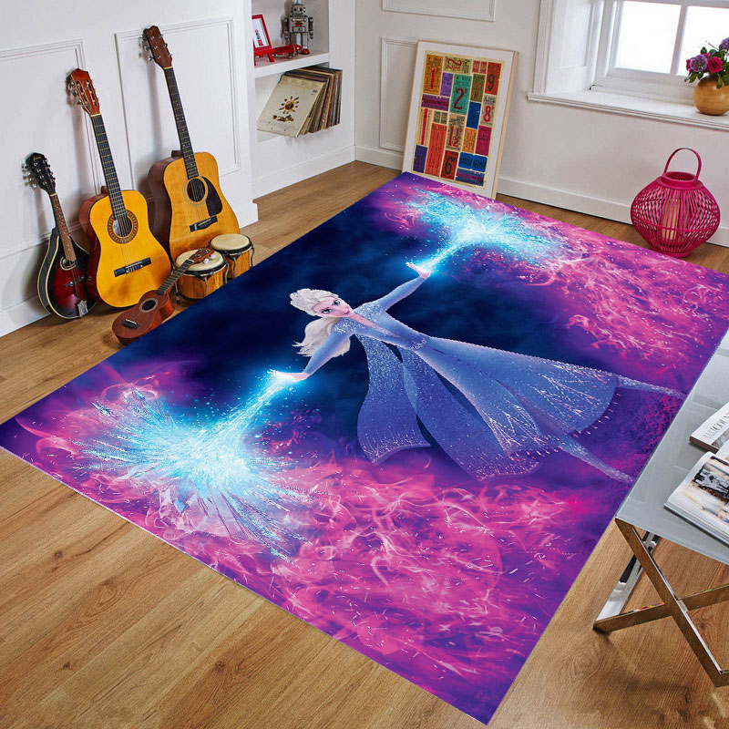 Magical Frozen Girls Play Mat Thickening Kids Rug Children Playmat Cartoon Non-slip Carpet Living Room Mat Doormat Gift
