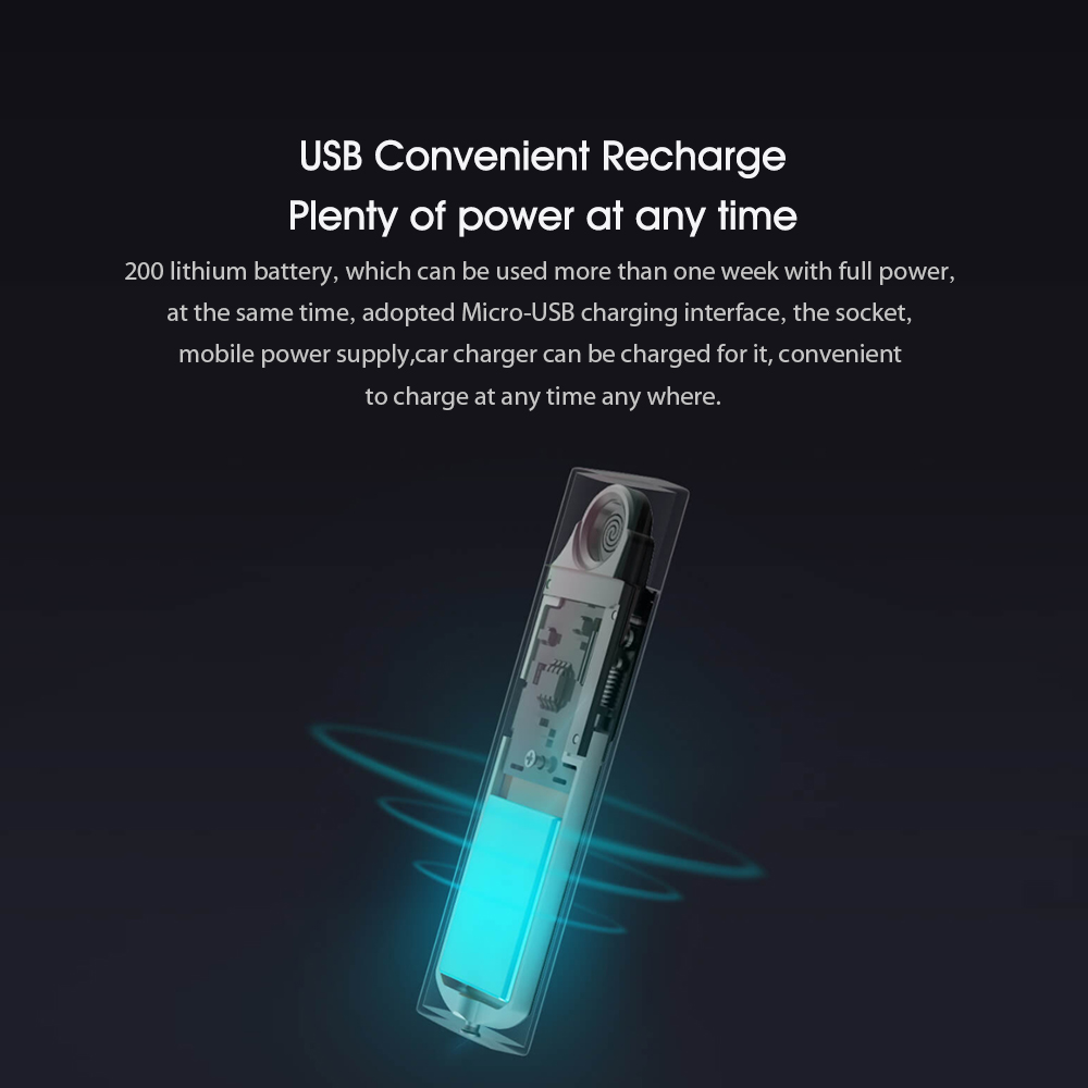 Xiaomi Beebest Metal Electronic Cigarette Lighter USB Rechargeable Touch Screen Windproof Cigarette Gadgets Men Secure No Fire