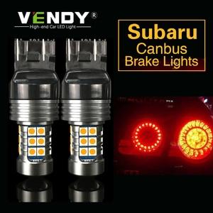 1pcs Car LED Brake Light Lamp W21/5W 7440 T20 BAY15D 3157 For Subaru Legacy Forester Impreza Outback Tribeca Crosstrek XV BRZ(China)