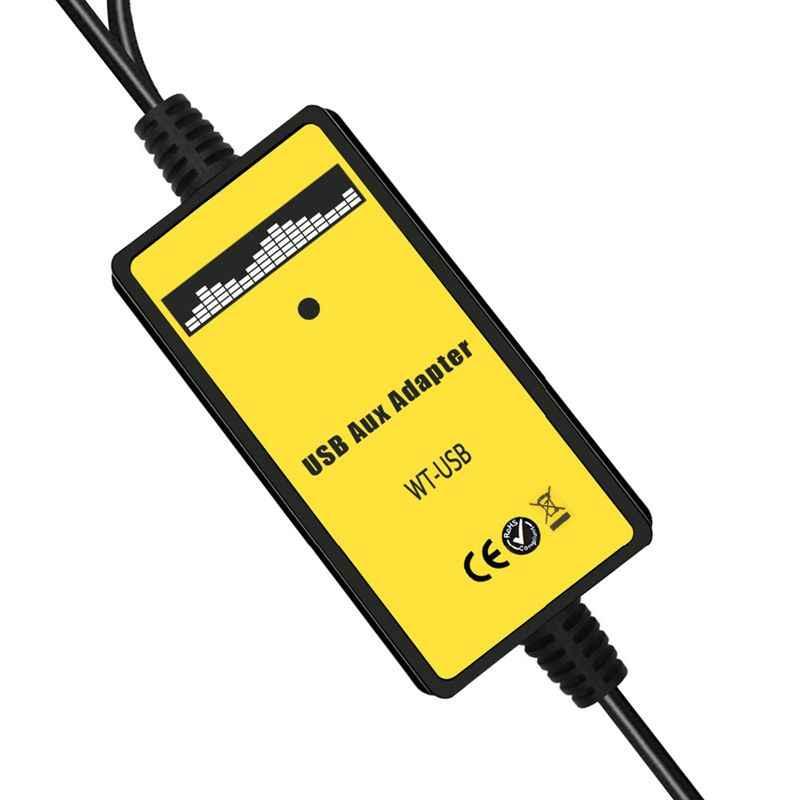 ABKT-Автомобильный Mp3 Телефон Aux USB адаптер 3,5 мм кабель вспомогательный CD авто Changer адаптер для Honda 2,3 для Civic/Accord/Odyssey/CRV QX00