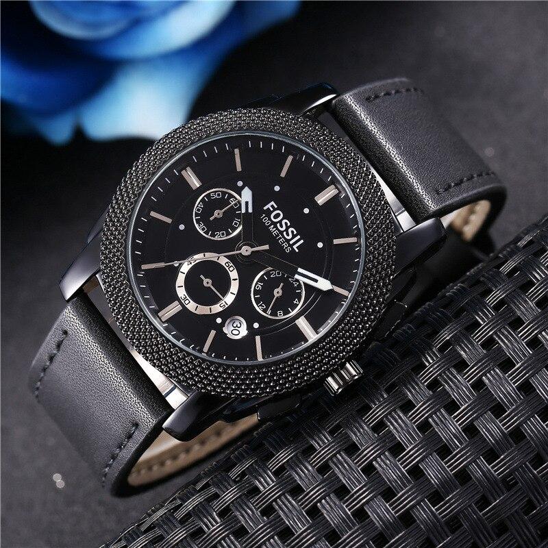 Fossil Men Watches Luxury Brand Auto Date Male Clock Quartz Watch Men Gold Casual Sport Watch Men And Women Couple Quartz Watch