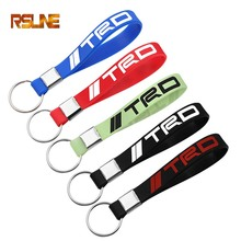 1pcs Luminous Silica gel key chain Car keyring sticker For Toyota TRD corolla rav4 avensis t25 yaris camry Accessories