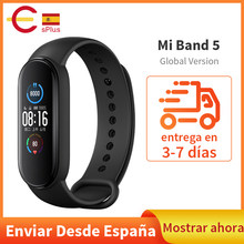 Version mondiale Xiaomi Mi bande 5 Bracelet intelligent 4 couleurs AMOLED écran Miband 5 Smartband Fitness Traker Bluetooth bande intelligente