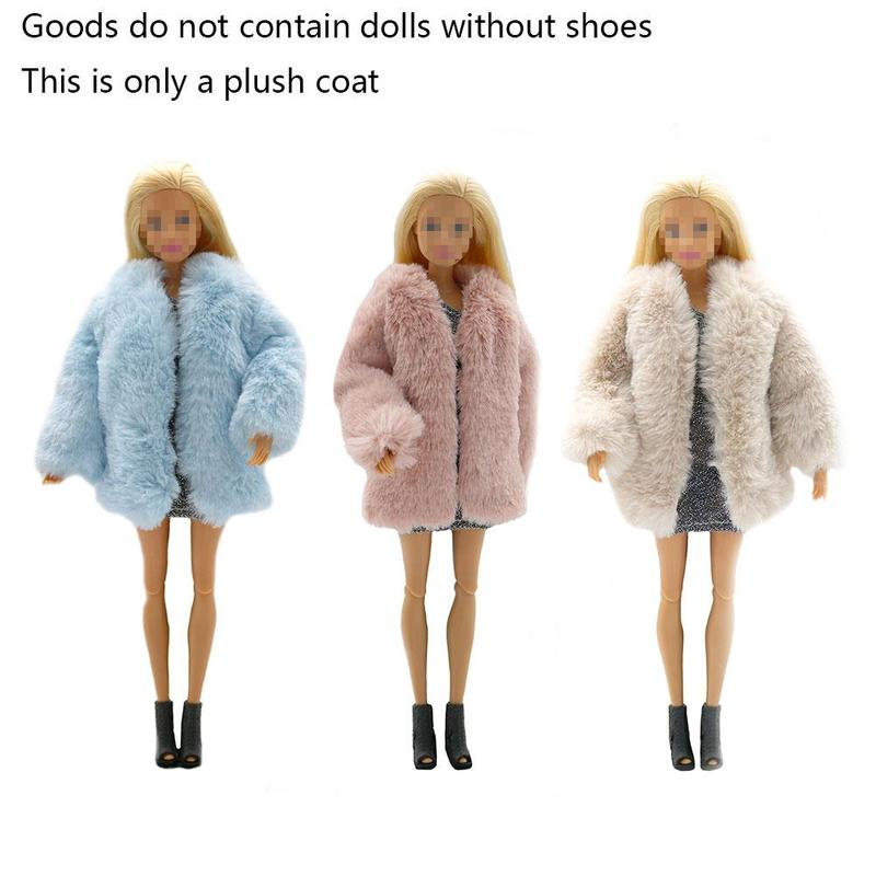 New 20cm Doll Clothes 3 Styles Plush Coat Jacket Fashion Handmade Doll Dresses Girls Toys Gift Doll Accessories Kids Toys 1pcs