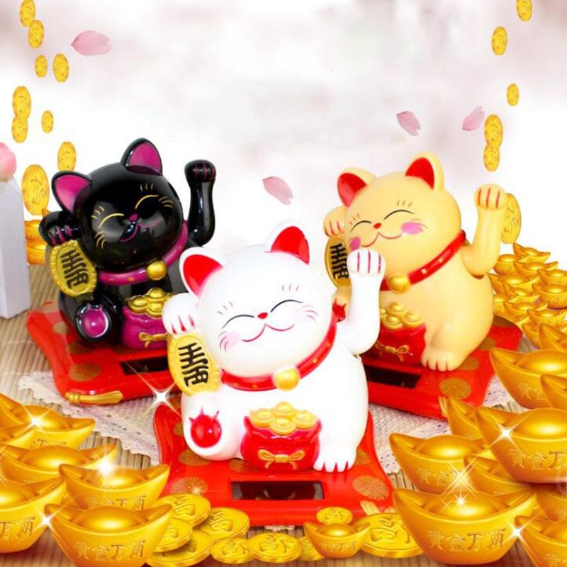 Китайский Лаки богатство развевающийся кошка Золотая развевающийся ручной Cat домашний декор Добро пожаловать, развевающиеся скульптура ко...