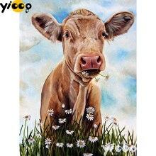Full Square/Round Drill 5D diamond embroidery cattle diamond Painting Rhinestones mosaic Cross stitch Decor DX0177 5d diy full square drill diamond painting embroidery autumn woods cross stitch rhinestones mosaic