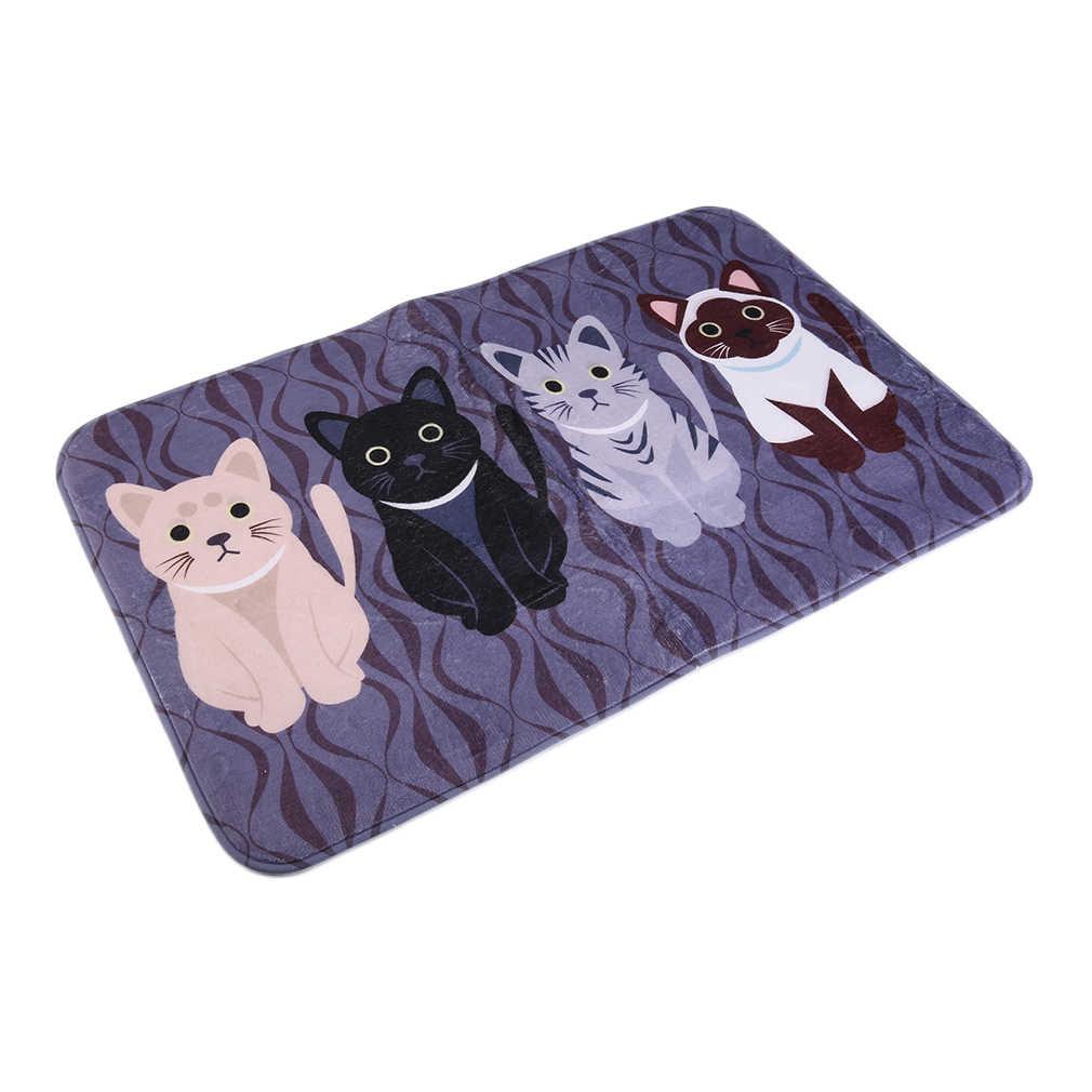 Новинка; Лидер продаж; креативные Kawaii Добро пожаловать; коврики для ванной комнаты с принтом кота; кухонные ковры; Домашние коврики для гостиной; нескользящие