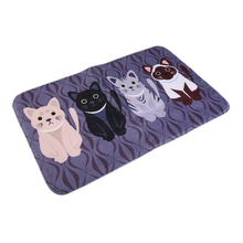New hot Creative Kawaii Welcome Floor Mats Animal Cat Print Bathroom Kitchen Carpets House Doormats For Living Room Anti Slip