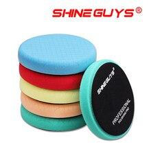 Shine guys 5.5 Polegada (125mm) almofadas de polimento de corte leve/médio/pesado para 5