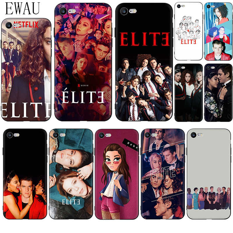 Ewau TV Spanyol Seri Elite Silikon Phone Case untuk iPhone 5 5s Se 6 6 S 7 7 Plus X XR XS 11 Pro Max