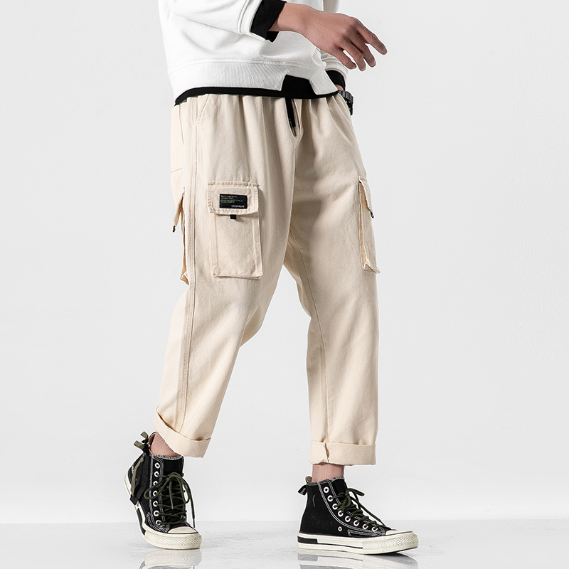 2020 Men Spring Autumn Bigger Pockets Hip Hop Harem Punk Pants Mens Casual Korean Cargo Male Loose Oversize 5XL Joggers Trouers