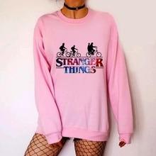 2019 New Arrival Women Sweatshirt Stranger Things Season 3 Printed  Round Neck Hoodies Pullovers Hooded