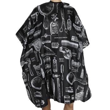 1 Pcs Black Salon Hairdressing Cleaning Apron Cut Hair Shatterproof Wai Cloth Adult Barber Capes Cloth Dropshipping Hot TSLM1