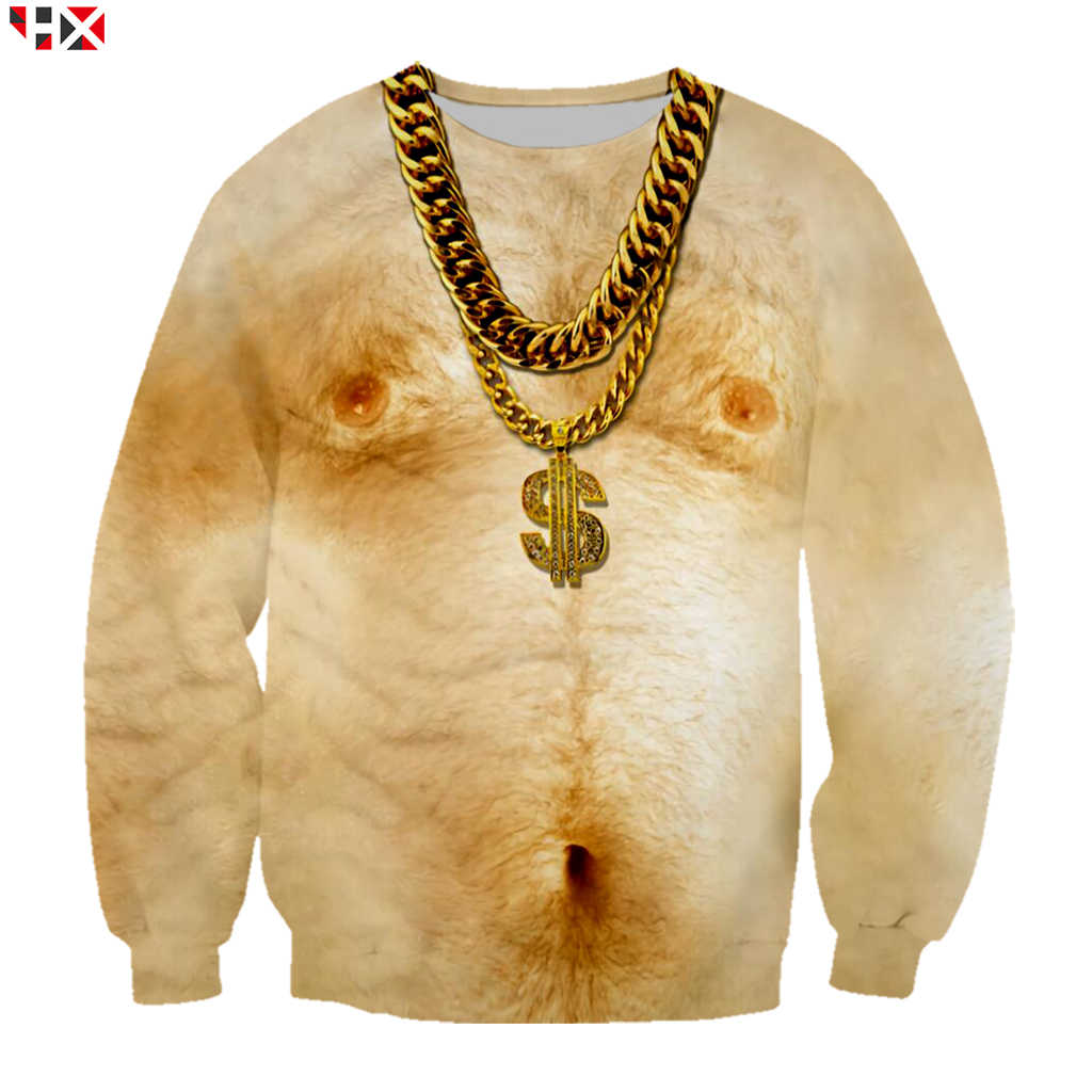 Gold-Necklace-Muscle-Man-3D-Print-Fashio