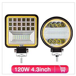 Hfb11ecc940fb46c09ee7bf352bc436a2l OKEEN 4inch 10cm 18W 27W 48W Offroad Car 4WD Truck Tractor Boat Trailer 4x4 SUV ATV 24V 12V Spot LED Light Bar LED Work Light