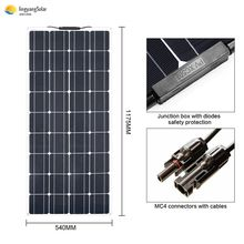 100W 18V flexible Solar Panel Battery Charger Portable Solar Cell For Phone RV Car Boat Yacht(China)