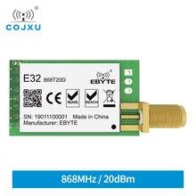 Sx1276 tcxo 868mhz 20dbm lora uart ebyte E32 868T20D longa distância SMA K conector transmissor receptor módulo sem fio rf