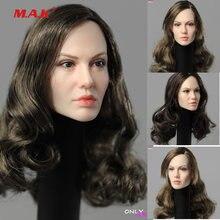 Женская голова Анджелины Джоли модель вырезанных волос в масштабе
