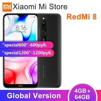 In Stock Global Version Xiaomi Redmi 8 4GB 64GB Snapdragon 439 Octa Core 12MP Dual Camera Mobile Phone 5000mAh Large Battery OTA 1