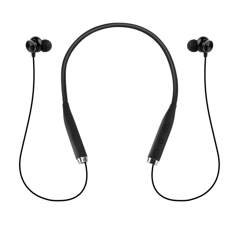 Draagbare Magnetische Bluetooth Hoofdtelefoon Sport Oortelefoon Hals Gemonteerde Draadloze Headset Hifi Geluid Voor Ios Android in Bluetooth Earphones Headphones from Consumer Electronics