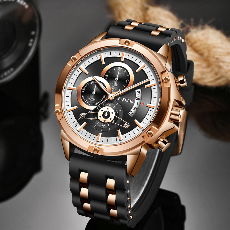 LIGE New Watches Mens Quartz Clock Top Brand Analog Military Male Watches Men Sport Army Watch Waterproof Relogio Masculino 2020