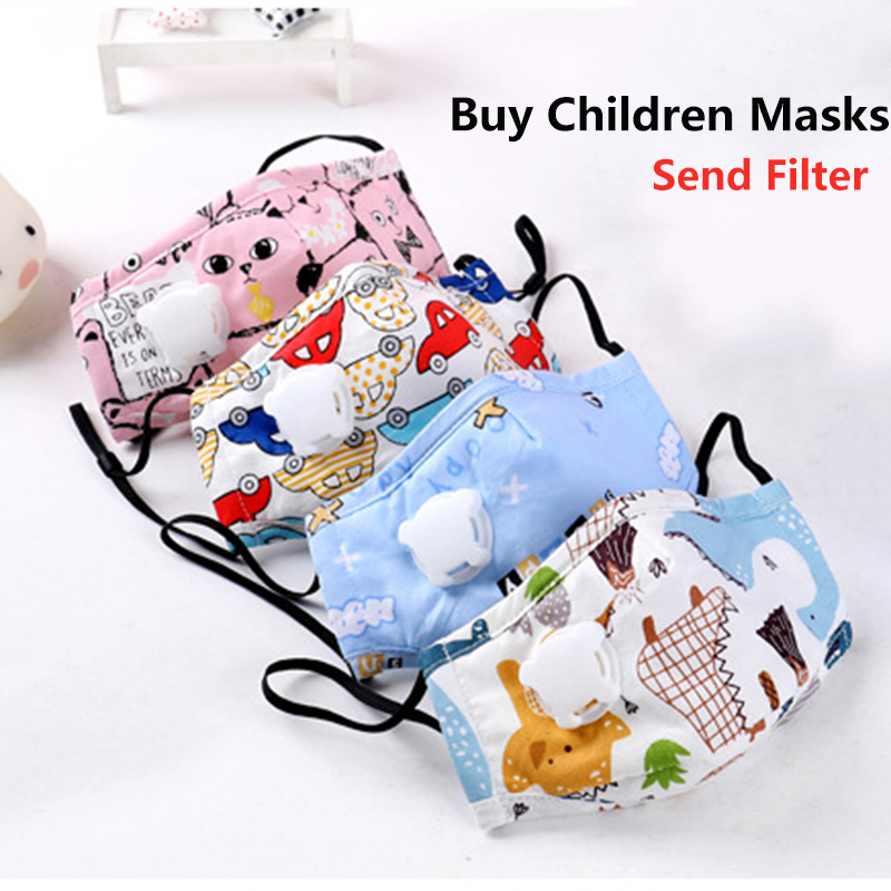 Children Masks Washable Respirator 8 Layer Safety Protection Cotton Activated Carbon Anti Flu Kids Face Mask Anti Dust PM2.5