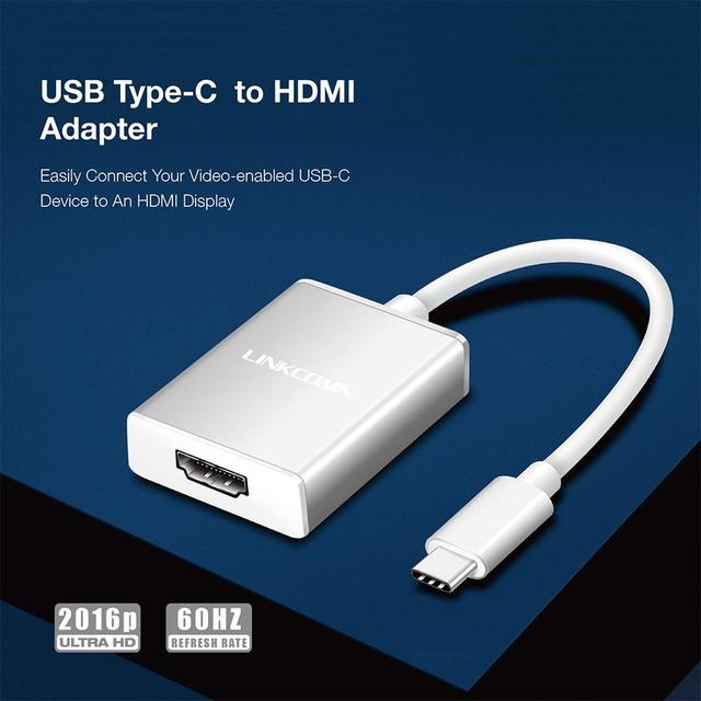 لينكوم USB C محور نوع C إلى محول HDMI 4K الترا HD 2016P 60Hz