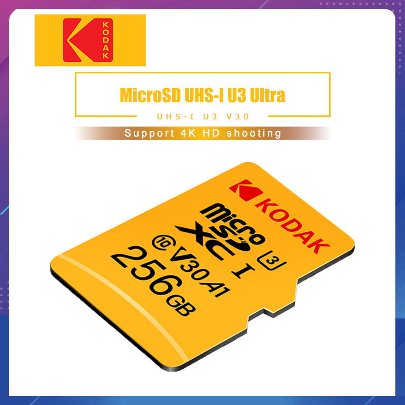 Kodak High Speed 16GB 32GB 64GB 128GB TF / Micro SD Card Cartao De Memoria Class10 U1 Flash Memory Card Mecard Micro Sd Kart