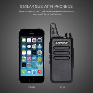 Image 4 - Zastone X6 Mini Walkie Talkie 400 470 UHF Walkie Talkie Portable Handheld Radio Comunicador Two Way Ham Radio