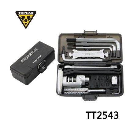 Topeak-boîte à engrenages de survie TT2543, ensemble d'outils réparateurs de vélo, outil Portable, kit de clé de bicyclette