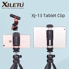 XILETU XJ13 Universal Tablet Clip Smartphone Halter Clip Ständer w Mini Stativ Einstellbare Halterung Für Handys Ipro Tabletten