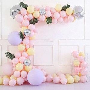 Image 3 - Bahçe çiçek tarzı Parti Balonlar düğün/nişan/yıldönümü/thirthday parti dekorasyon pembe, altın, gümüş, mor