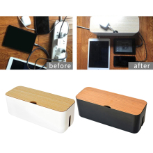 Case Charger Socket-Organizer Cable-Storage-Box Desktop Dustproof Network-Cord Power-Strip-Wire
