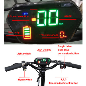 Image 5 - Powerful Electric Scooter 60V3200W 11inch Off Road Fat tire Dual Motor Wheel e scooter Foldable Adults Scooters Long Hoverboard