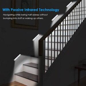 Image 3 - Lâmpada led com sensor de movimento pir, luz de baixo de armário, 6/10/20leds, para guarda roupa, armário luz noturna da cozinha