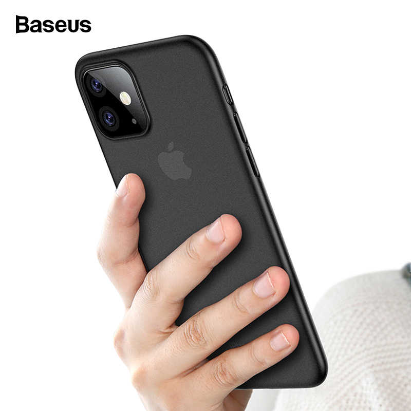 Baseus Luxe Telefoon Case Voor iPhone 11 Pro Max 11Pro Back Cover 0.4mm Ultra Dunne Silm PP Coque Fundas voor iPhone 11 Pro Max Case Capa