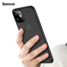 Baseus Luxury Phone Case For iPhone 11 Pro Max 11Pro Back Cover 0.4mm Ultra Thin Silm PP Coque Fundas For iPhone 11 Pro Max Case Capa(China)