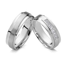 1 pair never fade Lover's Alliance wedding rings for couple infinite eternity marriage titanium jewelry finger ring(China)