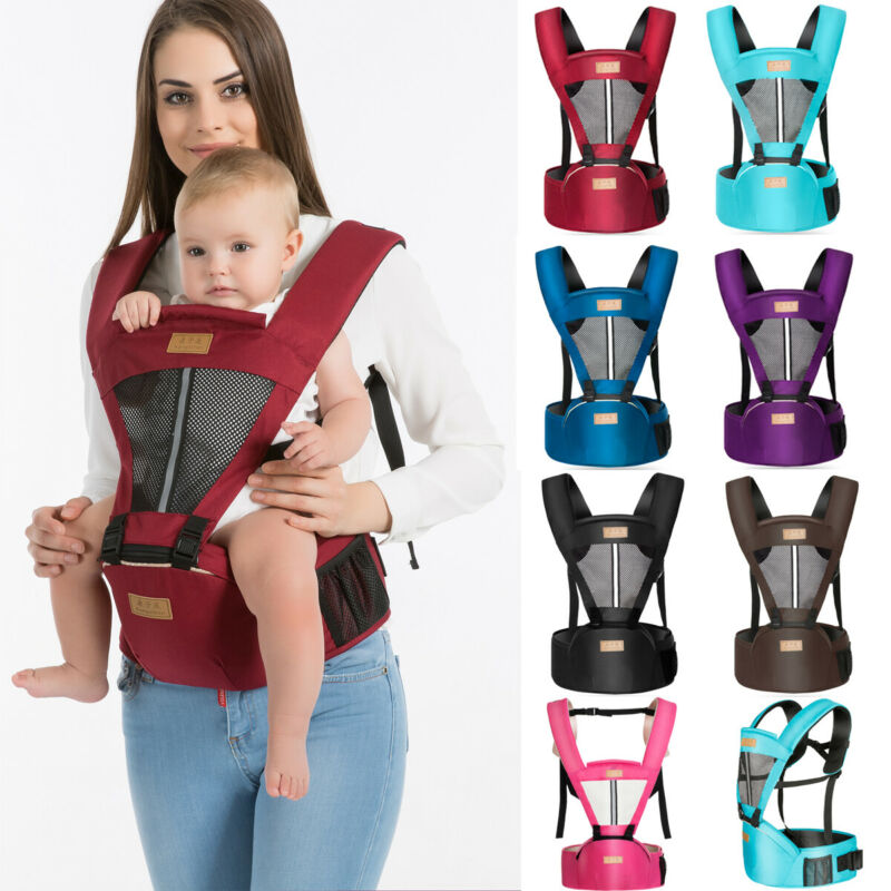 Newborn Ergonomic 4 Position Baby Carrier Sling Wrap Backpack Front Back Chest Soft Breathable Adjustable Hip Seat 0-36 Months
