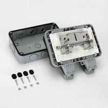2 комплекта ip66 водонепроницаемый удлинитель для улицы двойная