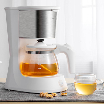 220V Home Coffee Machine Household Espresso Maker Large Capacity Glass Kettle Coffee Powder Filter Anti-Drip Insulation Teapot 4